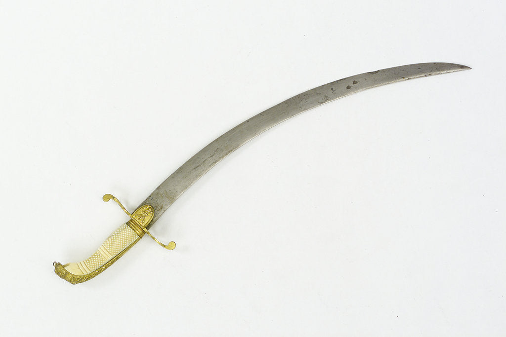 Detail of Curved bladed dirk by unknown