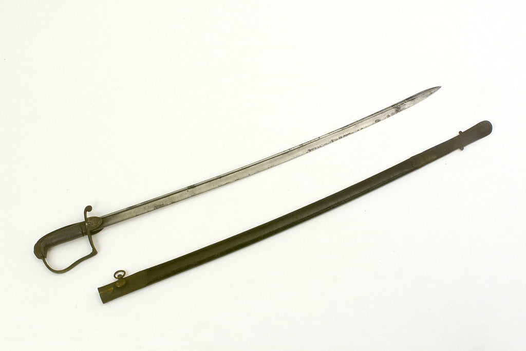 Sword, stirrup hilt by unknown