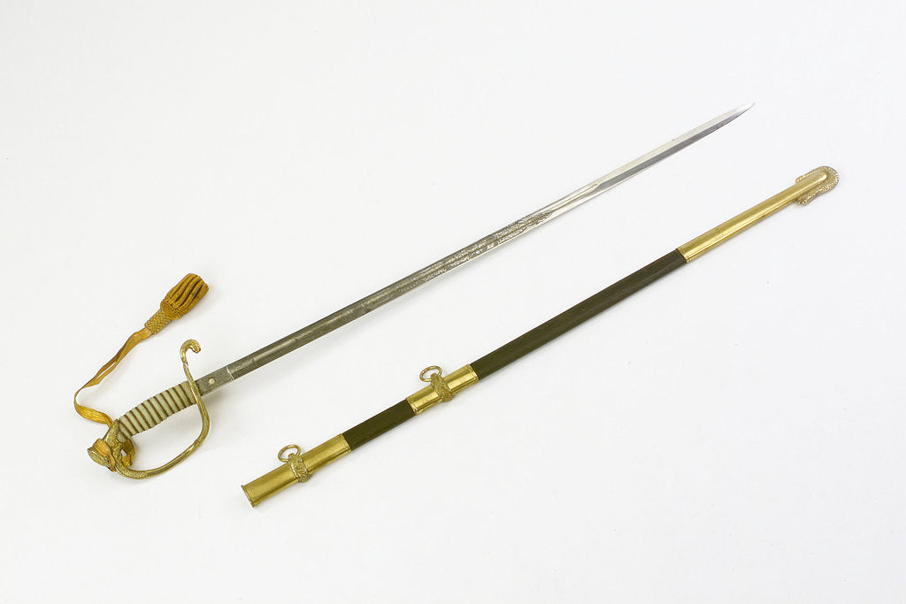 Detail of United States Naval sword by unknown