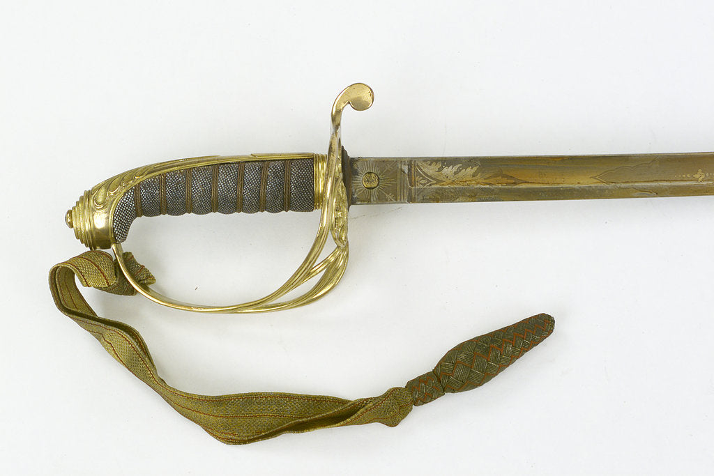 Detail of Hilt of sword, Royal Marines by unknown