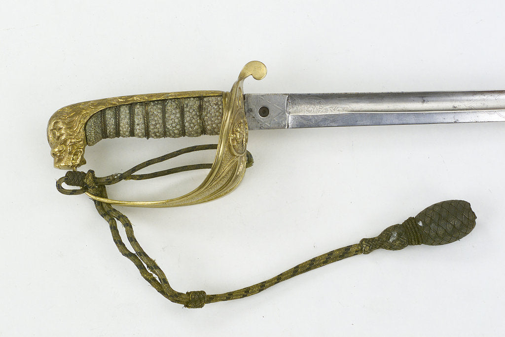 Detail of Solid half-basket hilt by unknown