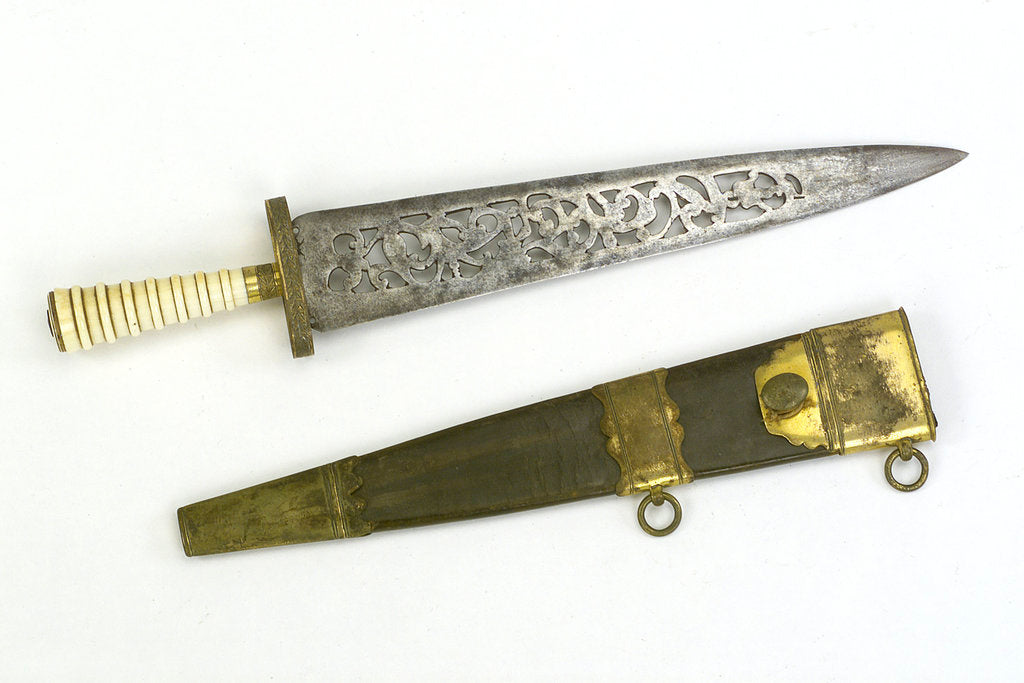 Detail of Straight-bladed dirk by unknown