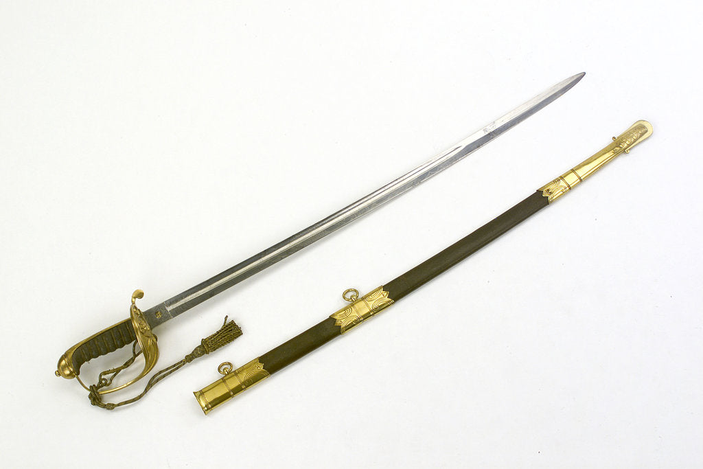 Detail of Solid half-basket hilted sword by Firmin & Sons
