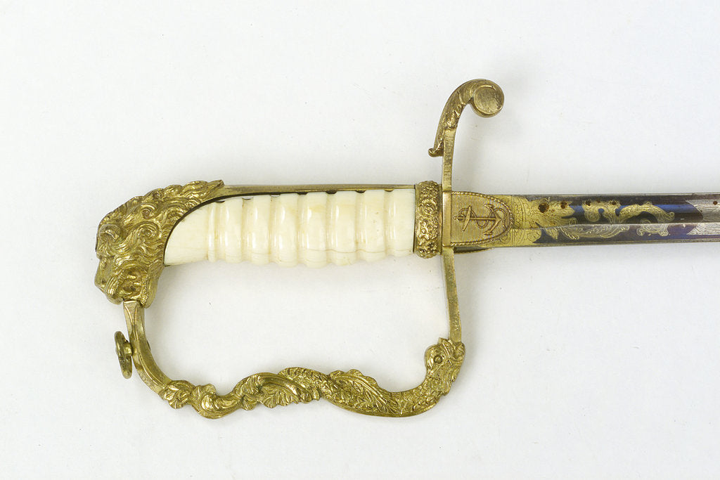Detail of Stirrup hilted dress sword by unknown