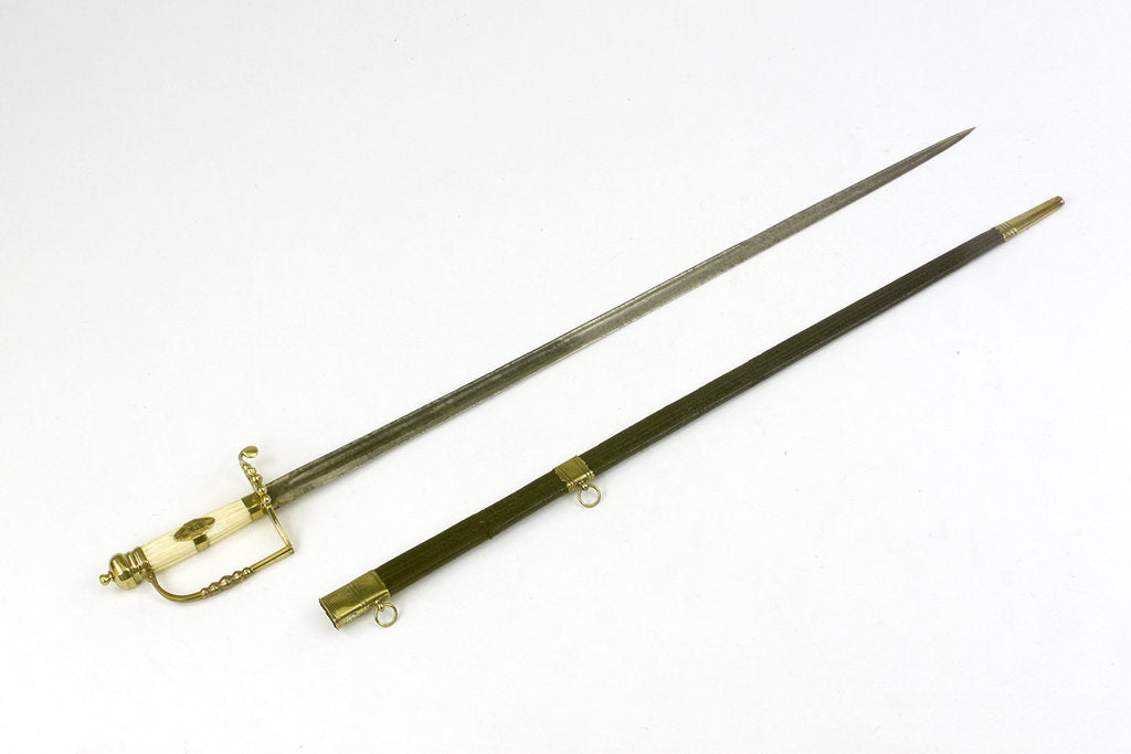 Detail of 5-ball hilted sword by unknown