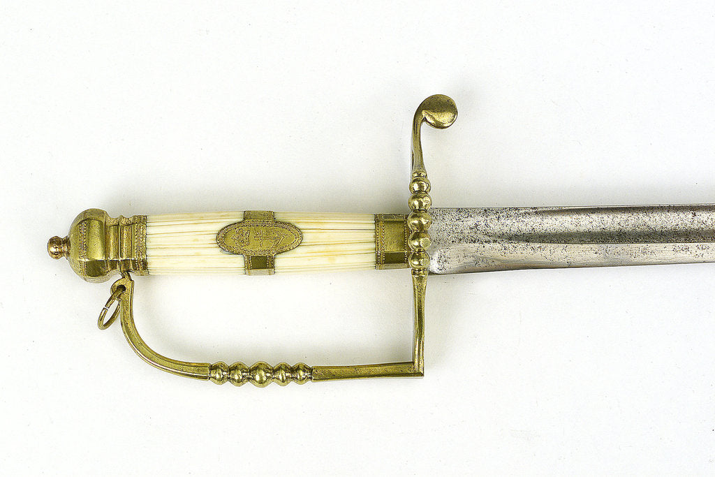 Detail of Five-ball hilted sword, which belonged to Commander Alexander Keeler (died 1831) by unknown
