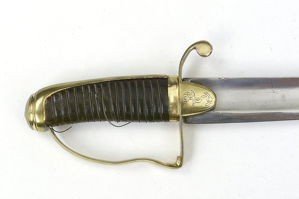 Detail of Straight-bladed dirk, which belonged to Captain John Cooke (1763-1805) by unknown
