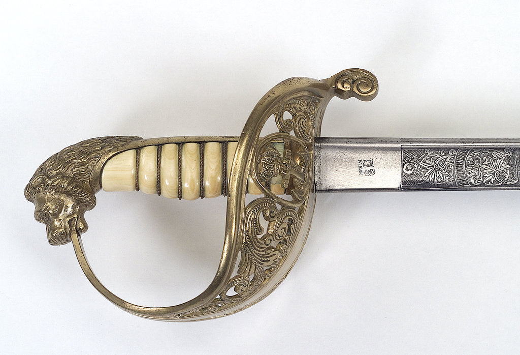 Detail of Hilt of Dutch naval officer's sword by Weyersburg