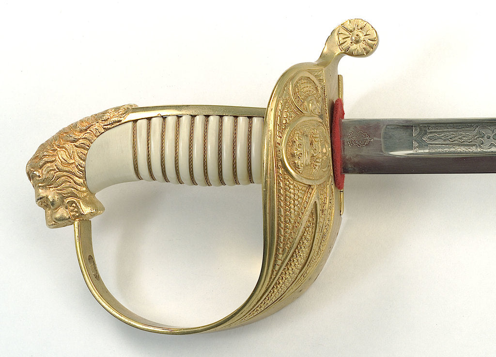 Detail of Spanish sword by Fabrica National