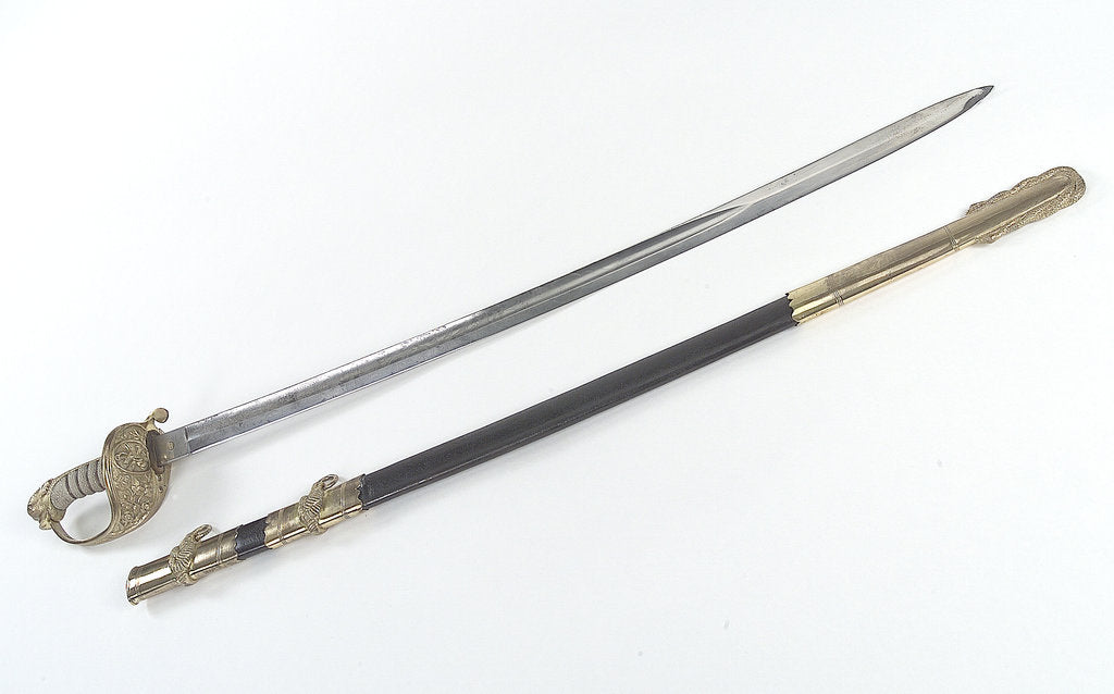 Detail of American Confederate Navy Sword by Mole