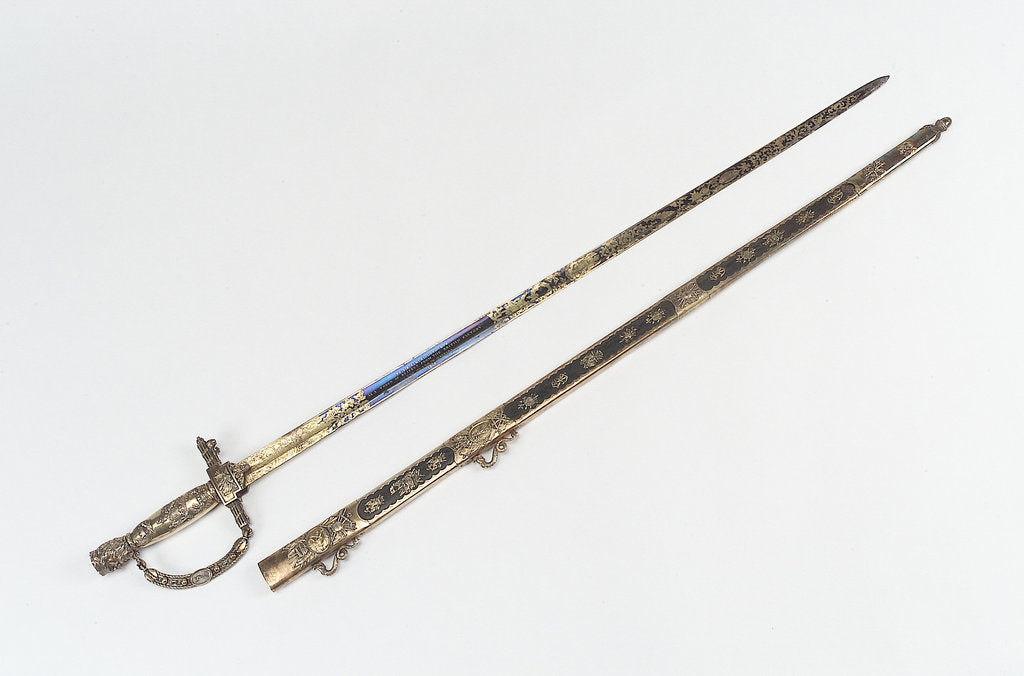 Detail of Presentation sword by unknown