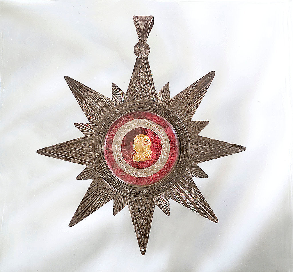 Detail of Masonic badge by D.J.