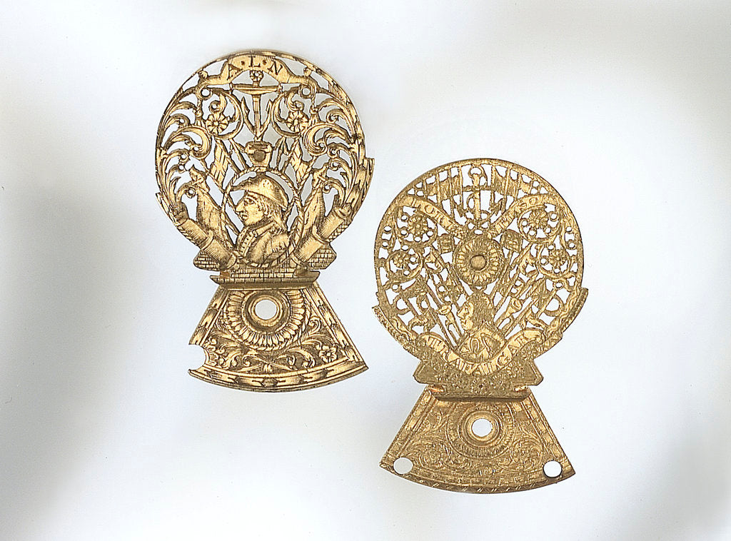 Detail of Two watch guards by unknown