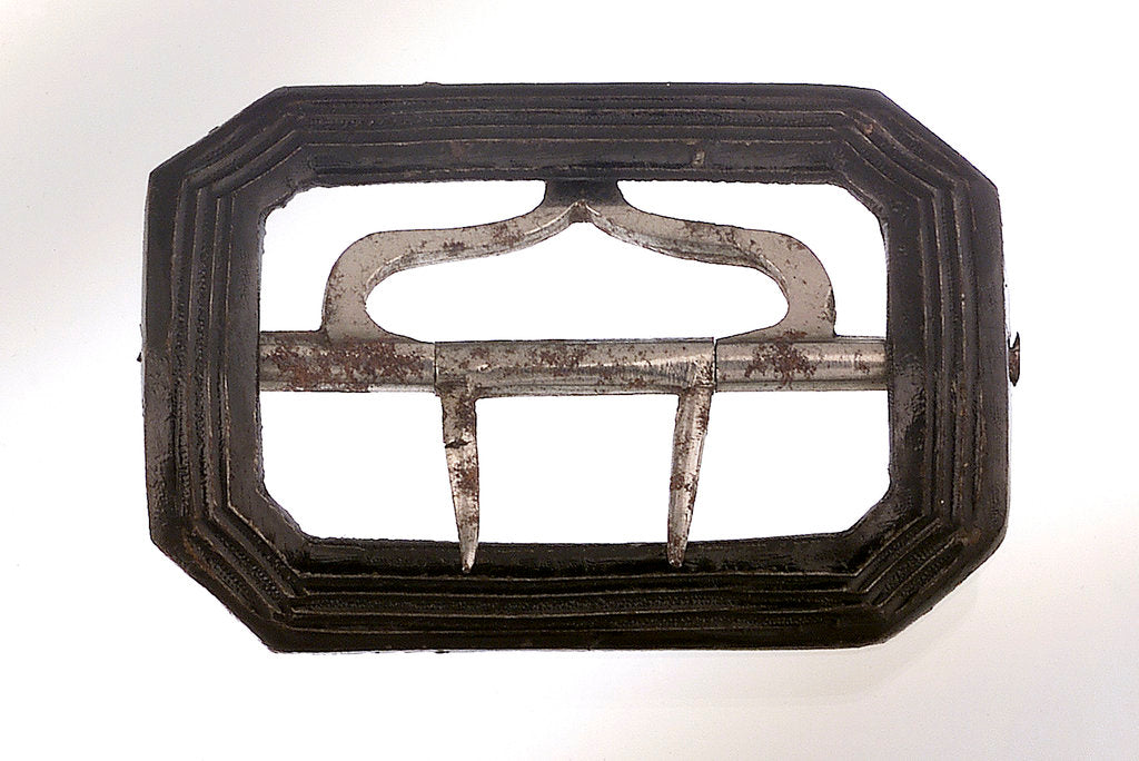 Detail of Japanned steel shoe buckle by unknown