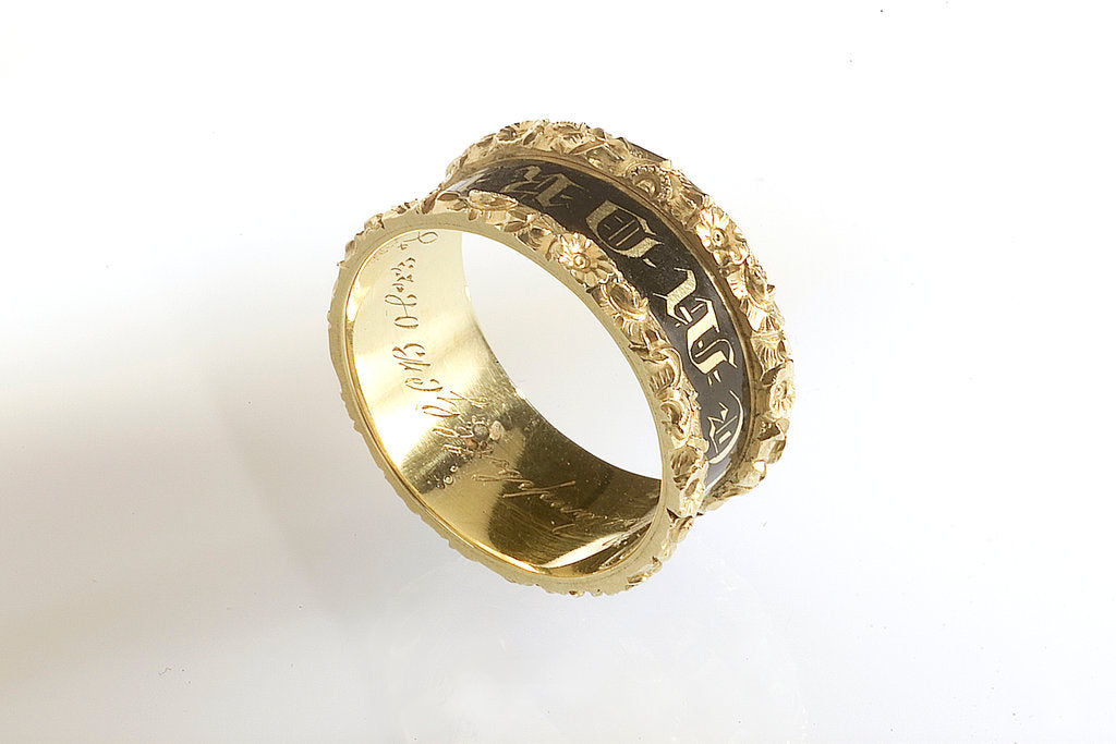 Detail of Mourning ring without case by W.A.P.