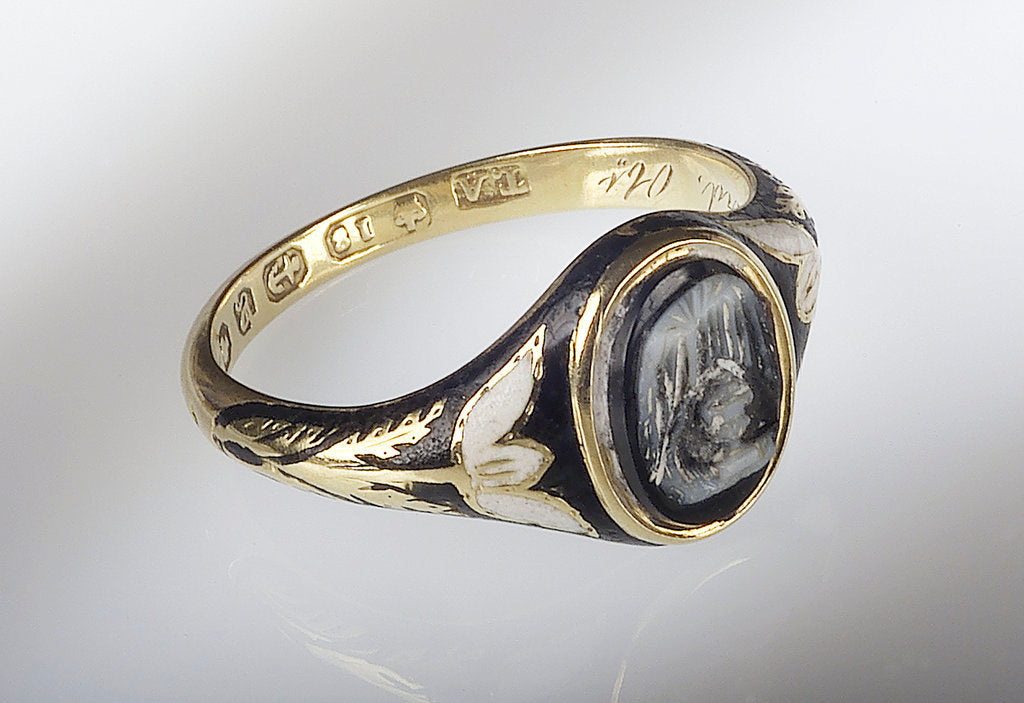 Detail of Gold ring by A.T.