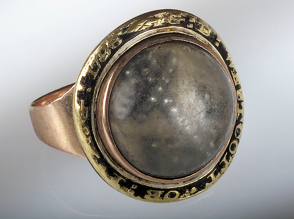 Detail of Mourning ring by unknown