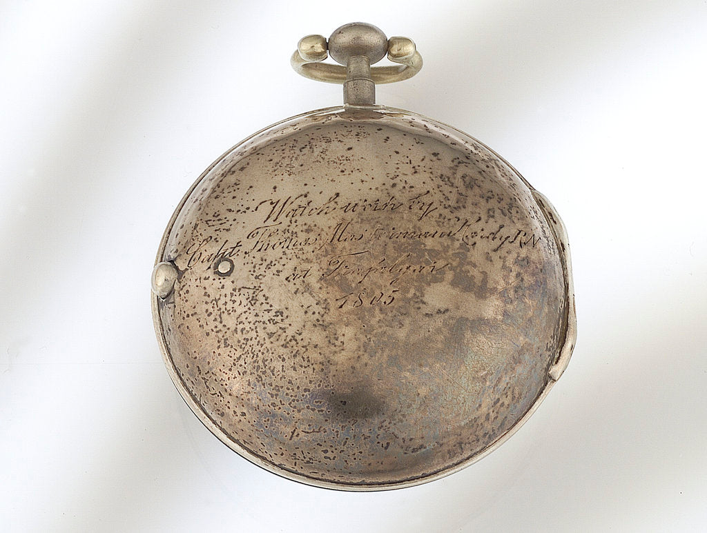 Detail of Watch in silver pair case - reverse by Thomas Leyden