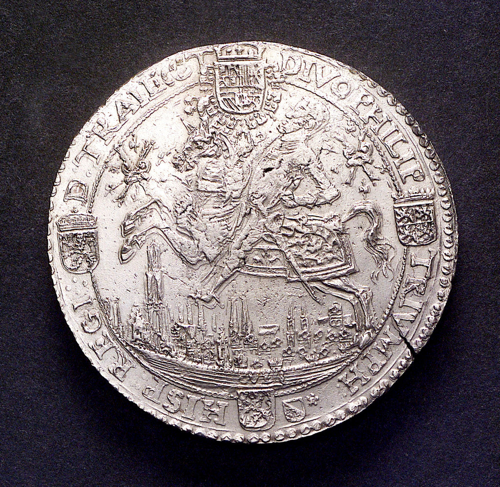 Detail of Medal commemorating the Battle of Lepanto, 1571; obverse by unknown
