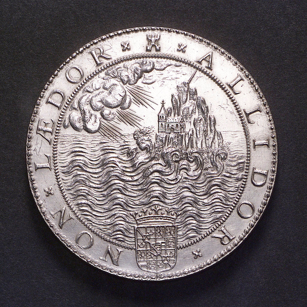 Detail of Medal commemorating the defeat of the Spanish Armada, 1588; reverse by Gerard van Bylaer