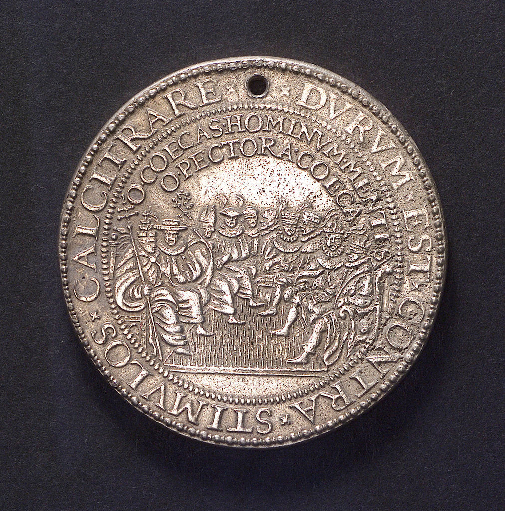 Detail of Medal commemorating the defeat of the Spanish Armada, 1588; obverse by unknown