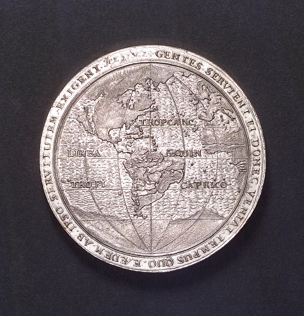 Detail of Medal commemorating Admiral Heyn and the capture of the Spanish silver fleet off Matanzas, 1628; obverse by unknown