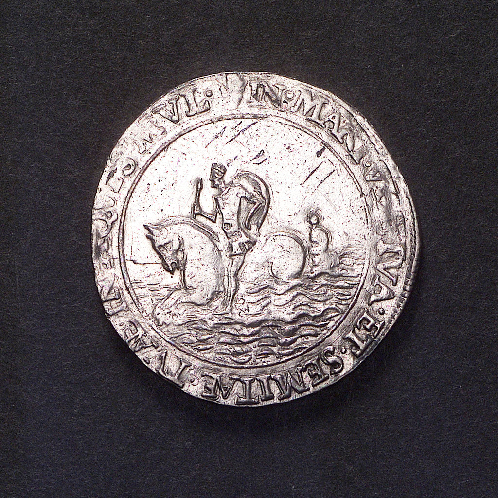 Detail of Counter commemorating Dutch peril, 1562; reverse by unknown