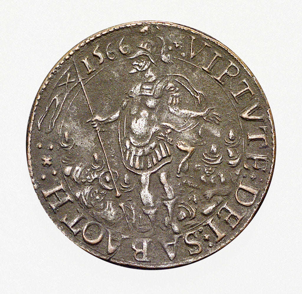Counter commemorating Malta delivered from the Turks; obverse by unknown