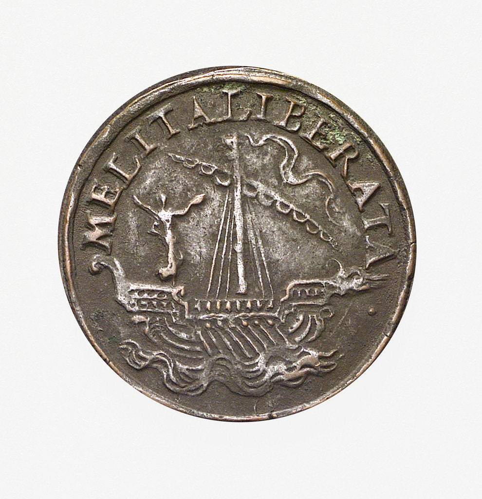 Detail of Counter commemorating Malta delivered from the Turks; reverse by unknown