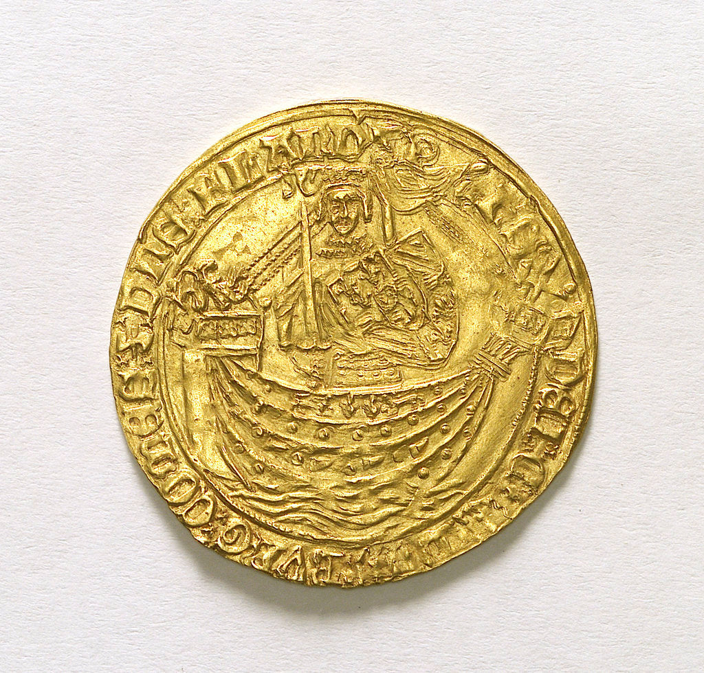 Detail of A Flanders noble; medal, reverse by unknown