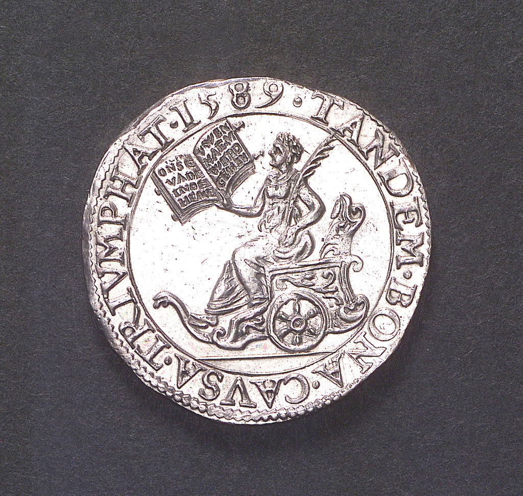 Detail of Counter commemorating the defeat of the Spanish Armada, 1588; obverse by unknown