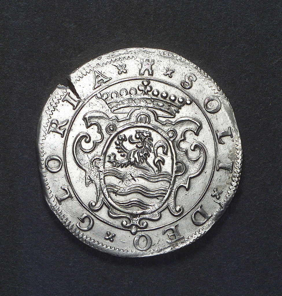 Detail of Counter commemorating the defeat of the Spanish Armada, 1588; reverse by unknown