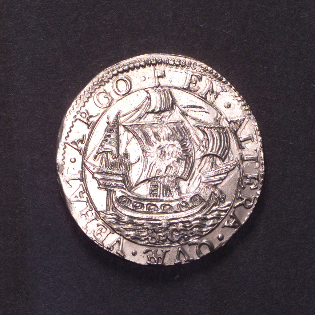 Detail of Counter commemorating the capture of St Thomas, 1599; reverse by unknown