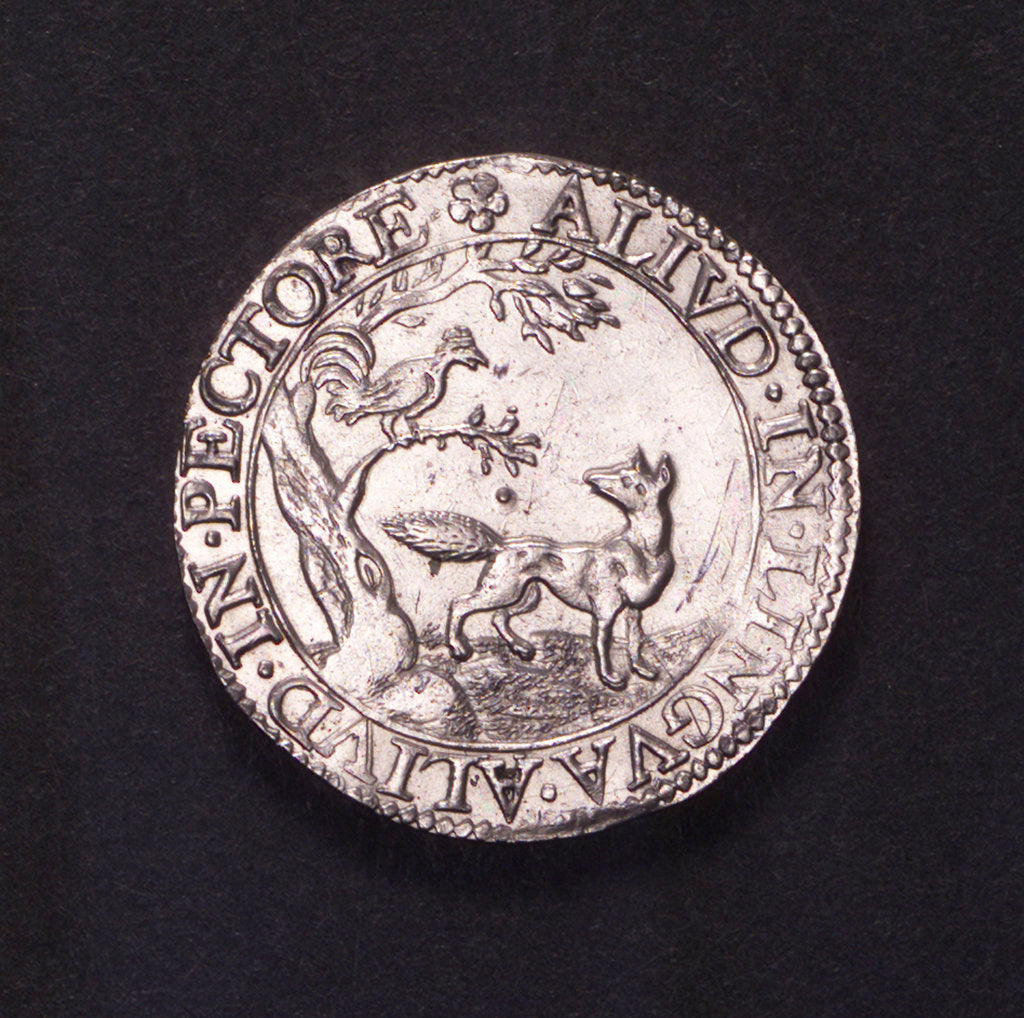 Detail of Counter commemorating the siege of Ostend, 1603; obverse by unknown