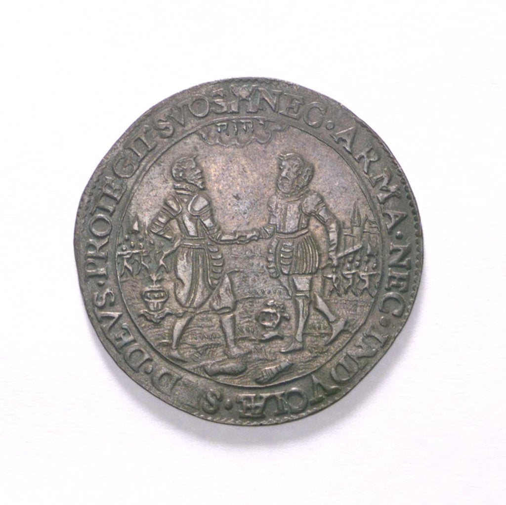 Detail of Counter commemorating the Treaty of Twelve Years, 1609; obverse by unknown