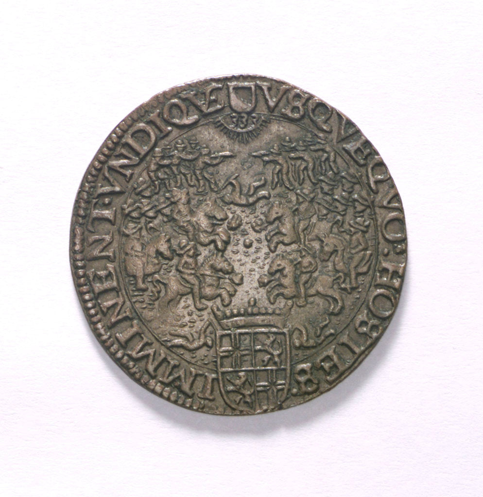 Detail of Counter commemorating Dutch losses, 1626; obverse by unknown