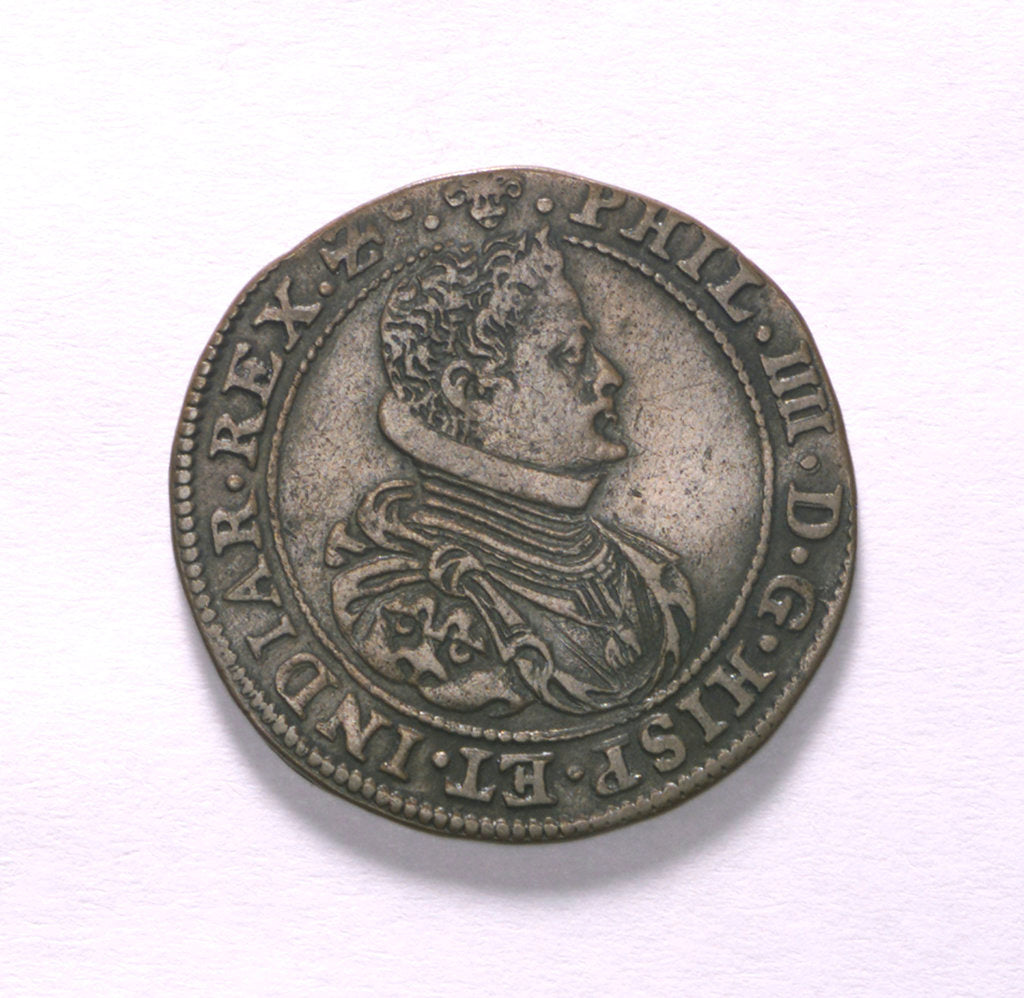 Detail of Counter commemorating preparations for the renewal of war, 1630; obverse by unknown