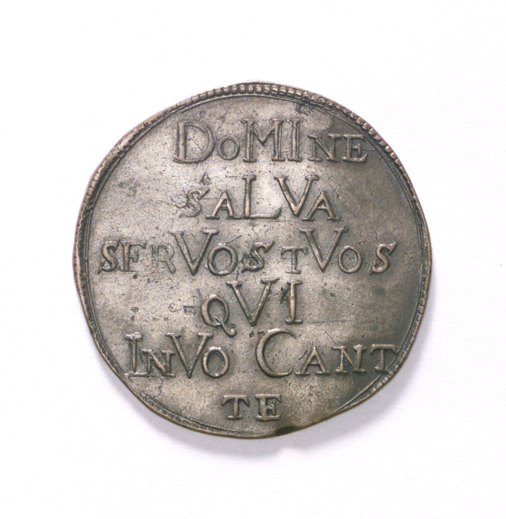 Detail of Counter commemorating the state in danger, 1678; reverse by unknown