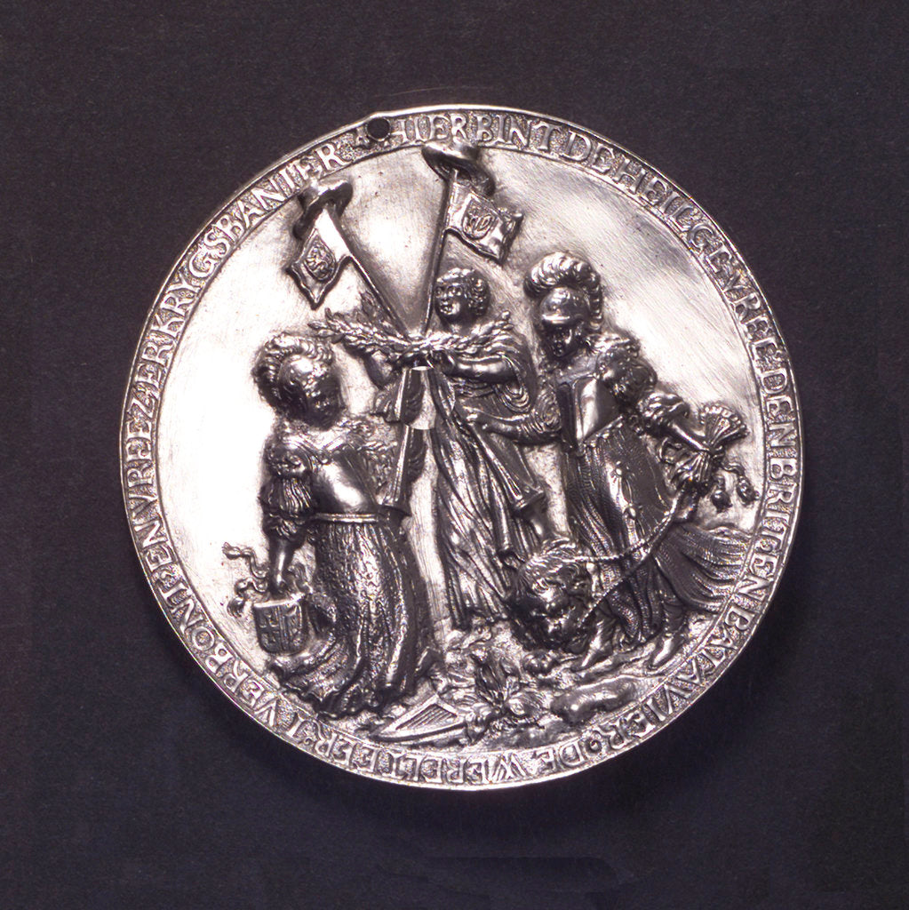 Detail of Medal commemorating the Peace of Westminster, 1654; obverse by O.M.