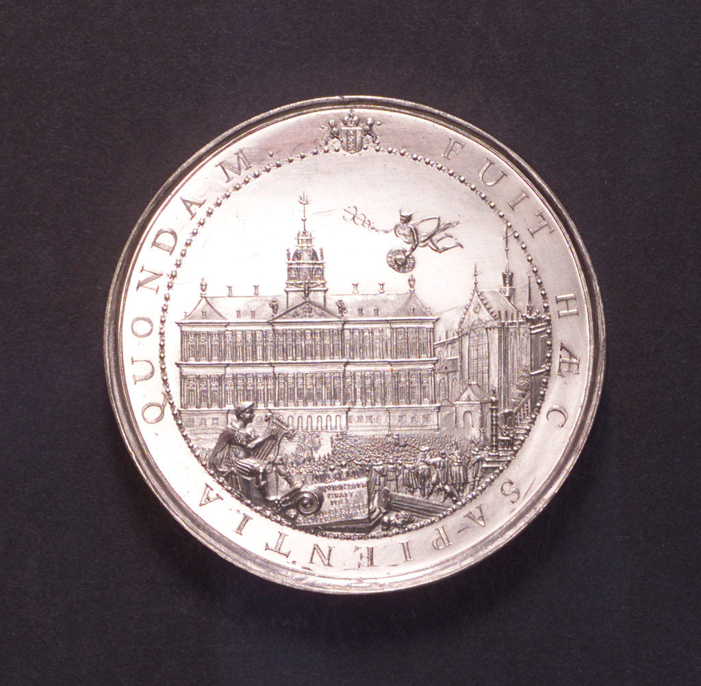 Detail of Medal commemorating the inauguration of the City Hall of Amsterdam, 1655; obverse by J. Pool