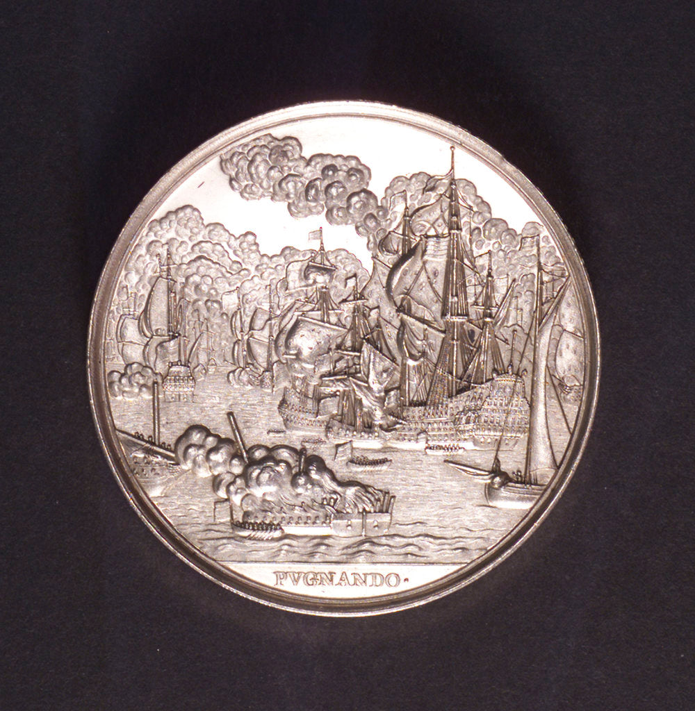 Detail of Medal commemorating the Battle of the Four Days and Admiral de Ruyter, 1666; reverse by C. Adolfszoon