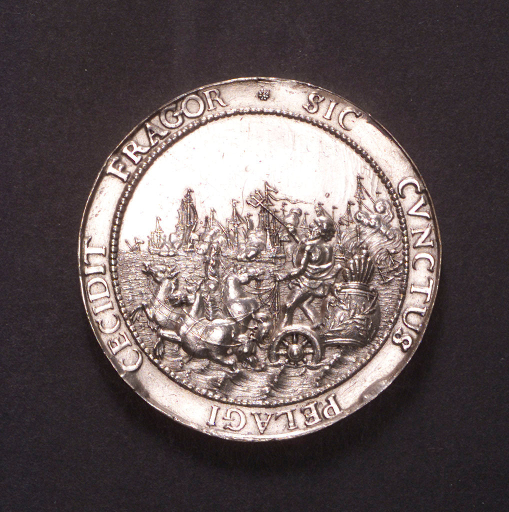 Detail of Medal commemorating the proclamation of the Peace of Breda, 1667; obverse by J. Pool