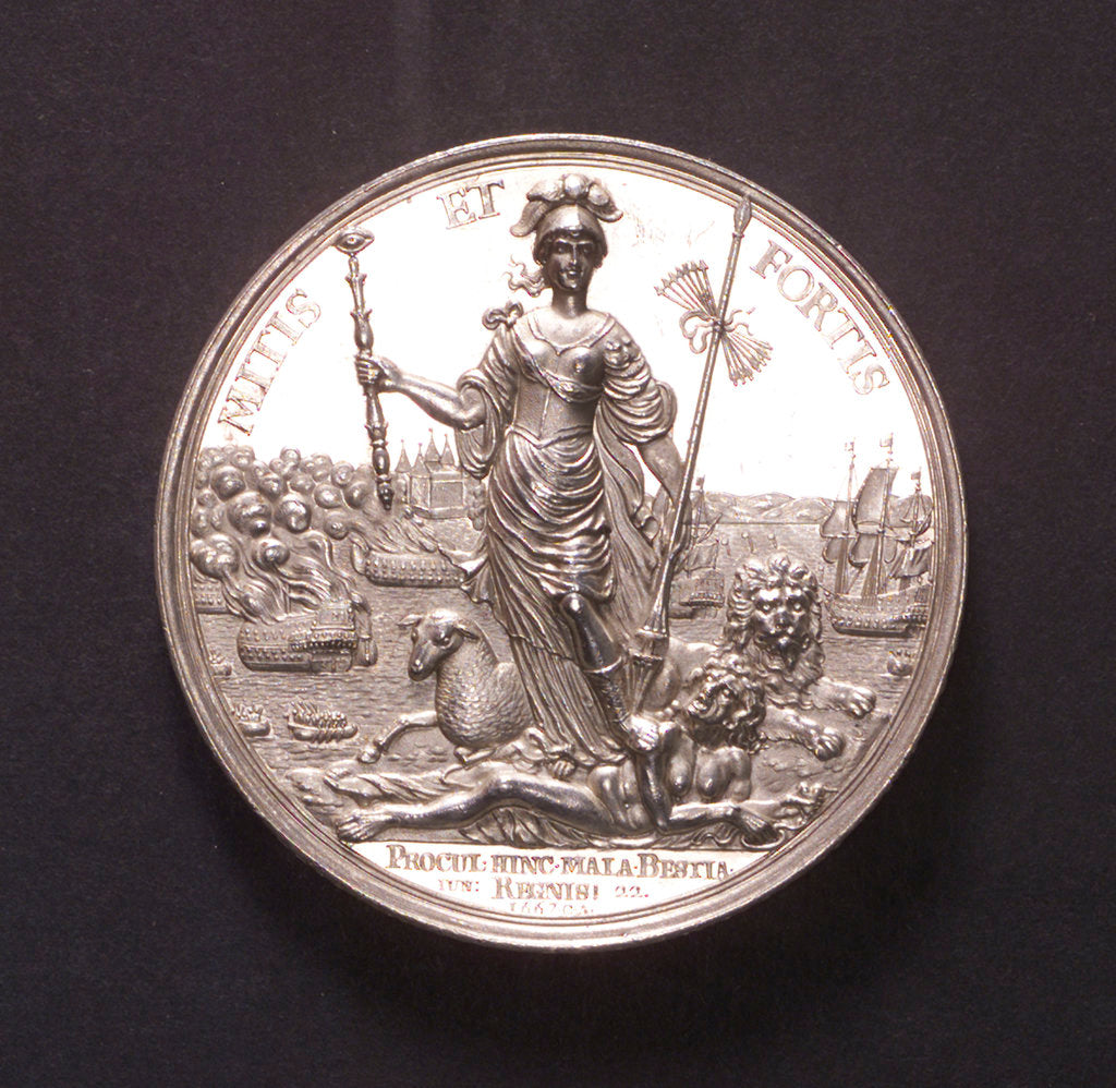 Medal commemorating the Peace of Breda, 1667; obverse by C. Adolfszoon