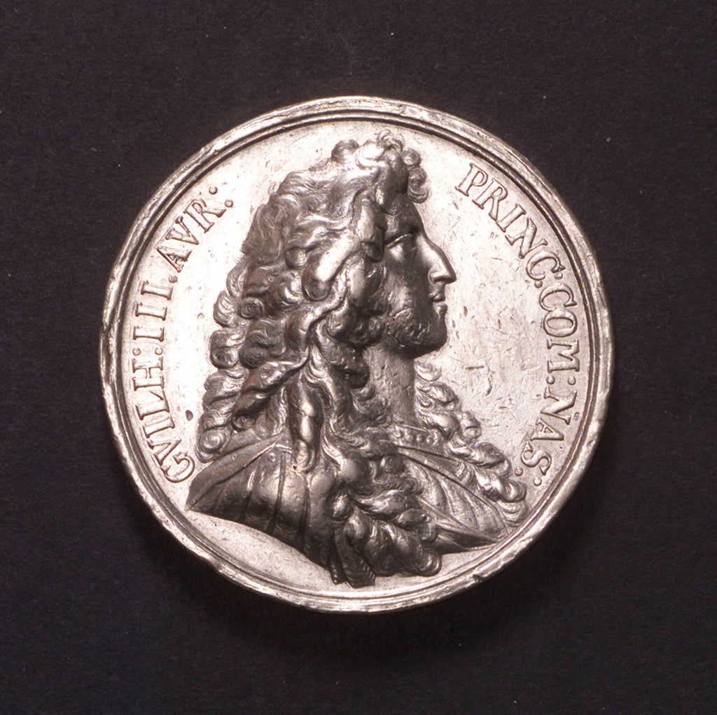 Detail of Medal commemorating William of Orange appointed Captain-General and Admiral, 1672; obverse by unknown