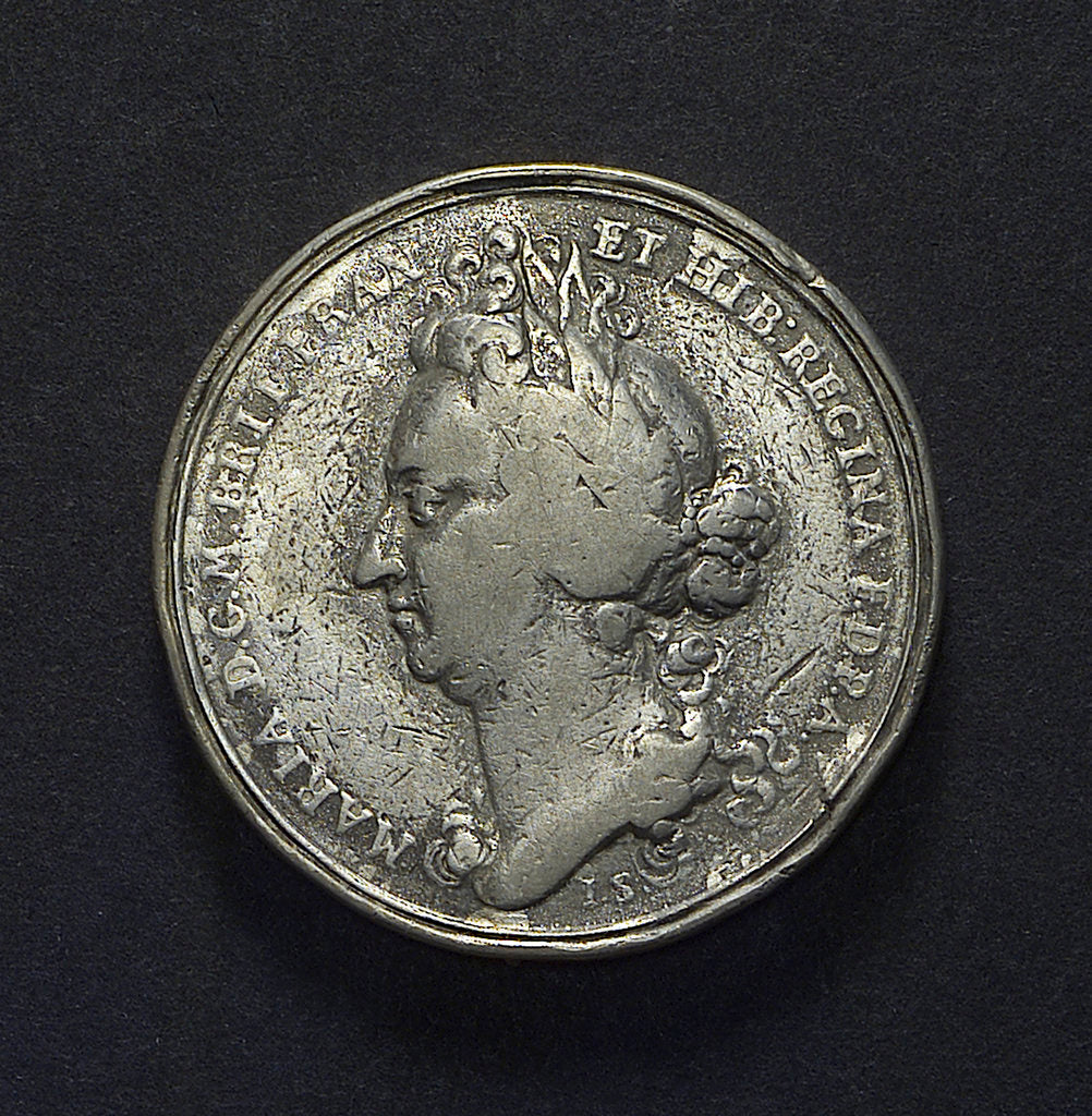 Detail of Medal commemorating Queen Mary Regent and the repair of the fleet; obverse by J. Smeltzing