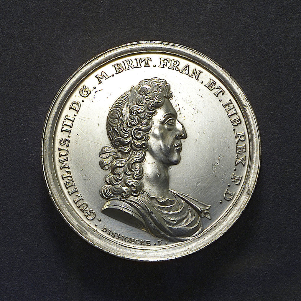 Detail of Medal commemorating the Battle of La Hogue, 1692; obverse by J. van Dishoecke