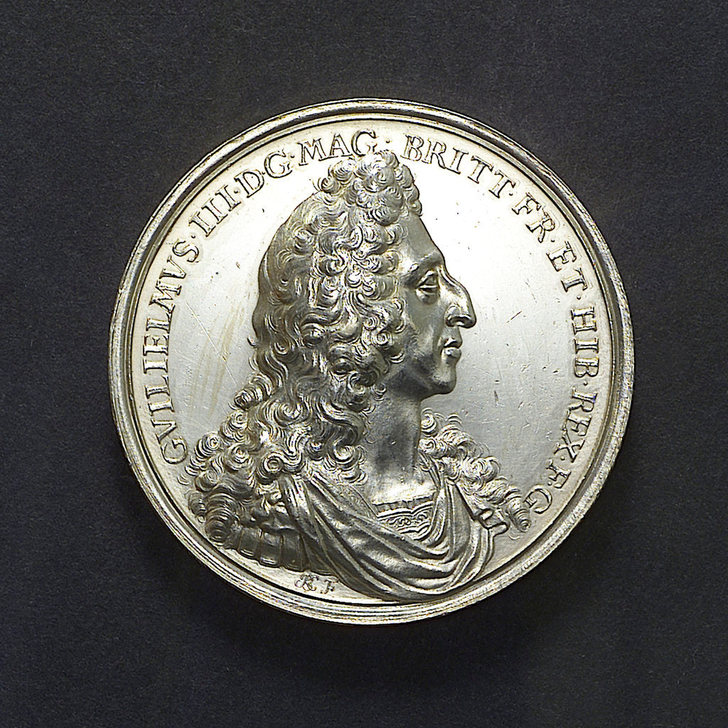 Detail of Medal commemorating the Battle of La Hogue, 1692; obverse by J. Boskam