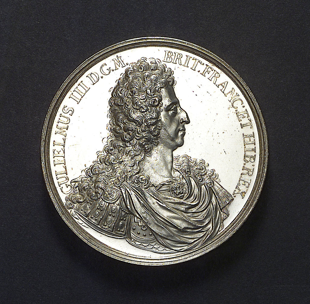 Detail of Medal commemorating the Battle of La Hogue, 1692; obverse by Jan Luder