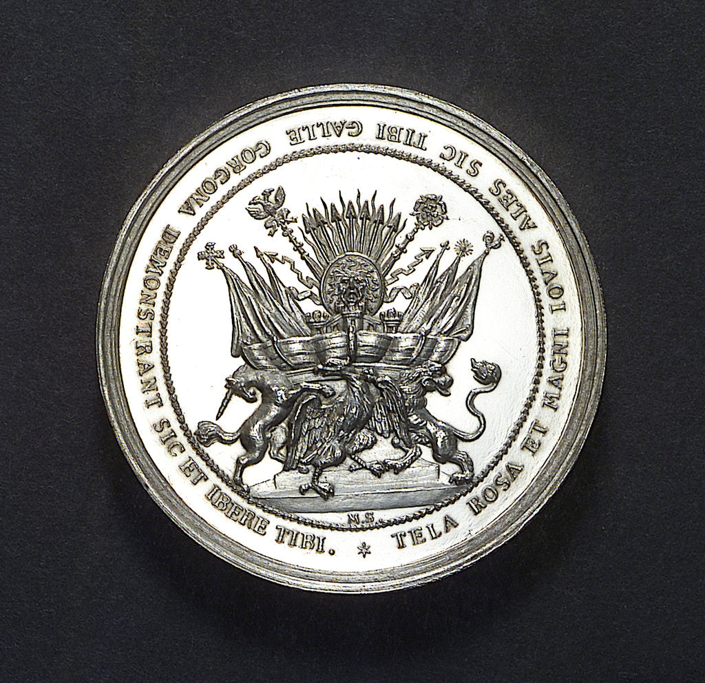 Medal commemorating the Expedition to Vigo Bay, 1702; reverse by M. Smeltzing
