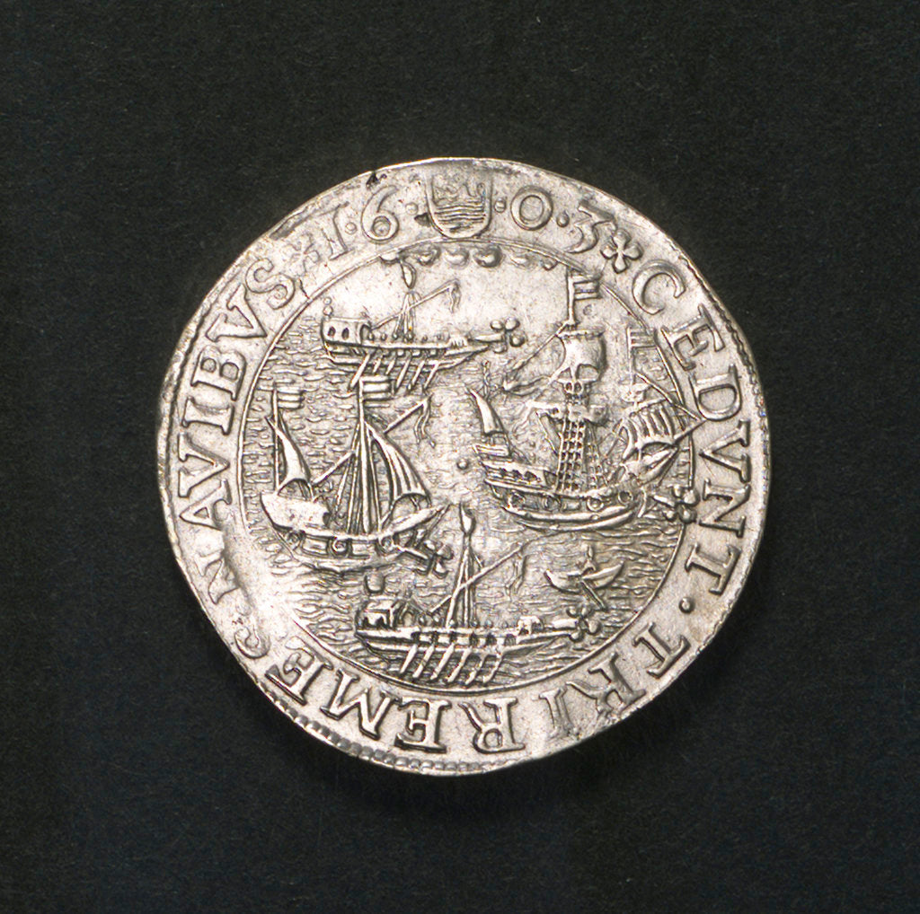 Counter commemorating the Spanish defeat off Sluys and the death of Spinola, 1603; obverse by unknown